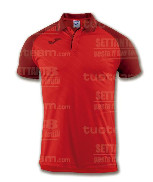 100639 - TORNEO II POLO MC 100% polyester interlock - ROSSO/ROSSO SCURO
