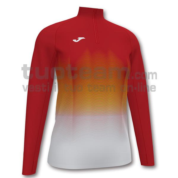 901031 - ELITE VII WOMAN FELPA 90% polyester 10% fleece elastane - 602 ROSSO / BIANCO