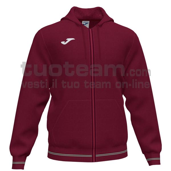 101590 - CAMPUS III FELPA FULL ZIP CAPPUCCIO 65% polyester 35% cotton - 671 BORDEAUX