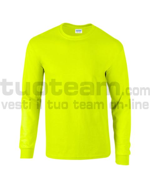 GL2400 - Ultra Cotton Maglia G/C-M/L 100% Cot. 205 gr/m2 - Safety Green