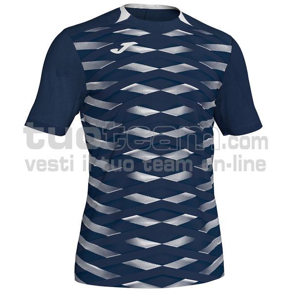 101289 - MYSKIN II MAGLIA 100% polyester interlock - 332 DARK NAVY / BIANCO