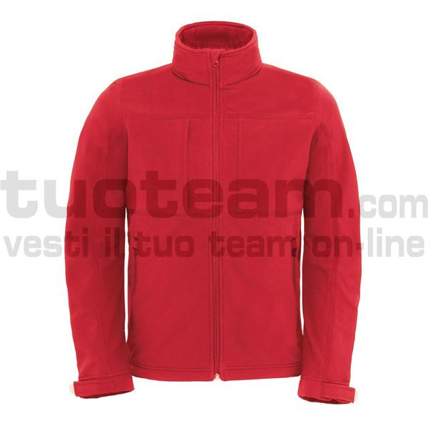 CJM950 - Hooded Softshell Jacket - Red