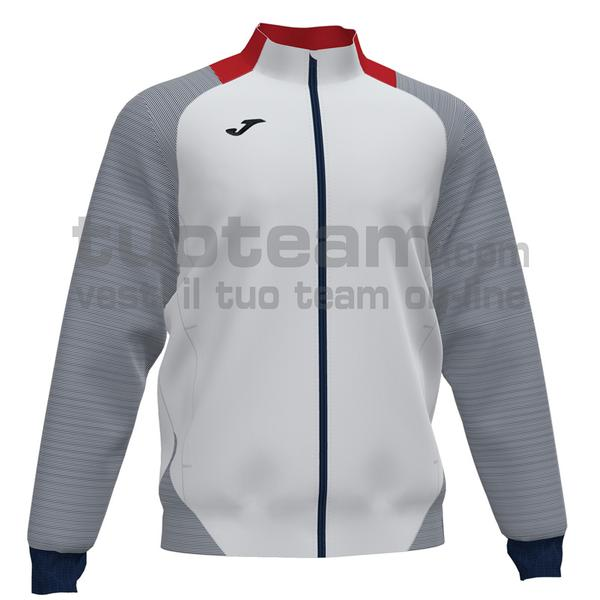 101535 - ESSENTIAL II FELPA FULL ZIP 100% polyester interlock - 203 BIANCO / DARK NAVY