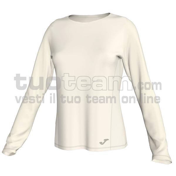 900861 - MAGLIA ML 90% polyester interlock 10% elastan - 224 BIANCO PANNA