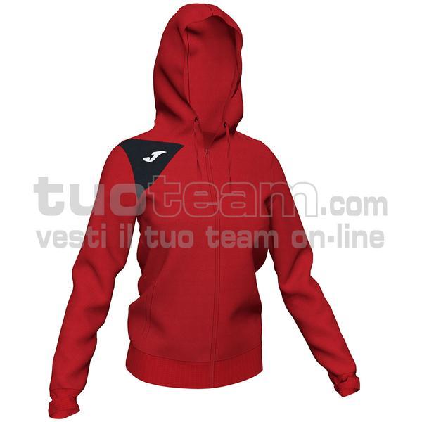 900869 - GIACCA SPIKE II 90% polyester fleece 10% elastan - 601 ROSSO/NERO