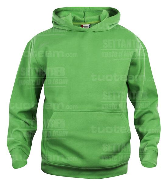 021021 - FELPA Basic Hoody Junior - 605 verde acido