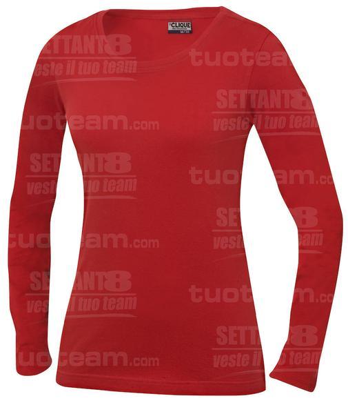029319 - T-SHIRT Carolina m/lunga - 35 rosso