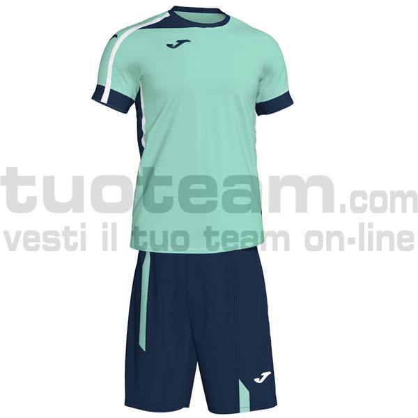 101274 - ROMA II SET MAGLIA MC + SHORT 100% polyester interlock - 403 VERDE ACQUA / NAVY