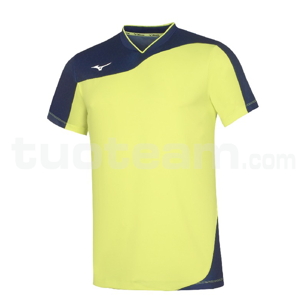V2EA7004 - premium myou t shirt - Yellow Fluo/Royal