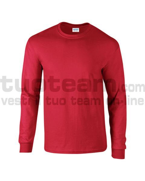 GL2400 - Ultra Cotton Maglia G/C-M/L 100% Cot. 205 gr/m2 - Rosso
