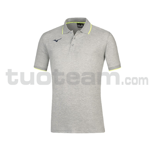 32EA7041 - TEAM MIZUNO POLO - Heather Grey/Navy