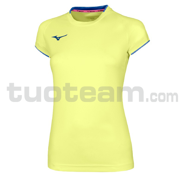 32EA7202 - Core Shirt sleeve tee - Yellow Fluo/Royal
