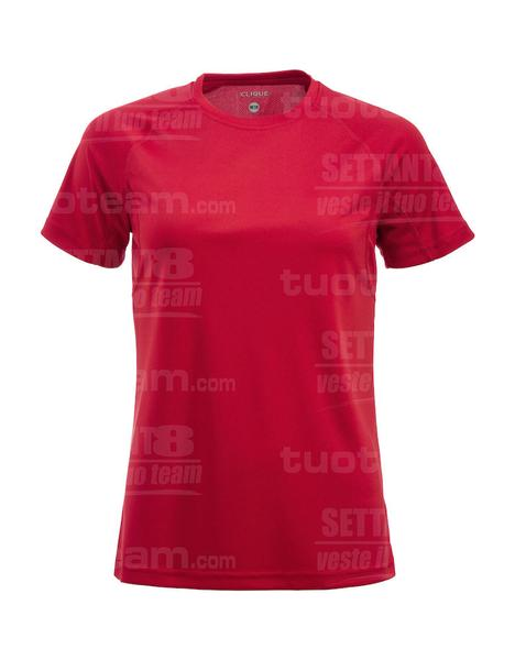 029339 - T-SHIRT Active-T Lady - 35 rosso