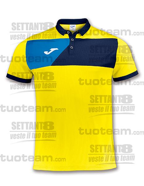 100679 - POLO CREW M/C - GIALLO/BLU NAVY/BLU ROYAL