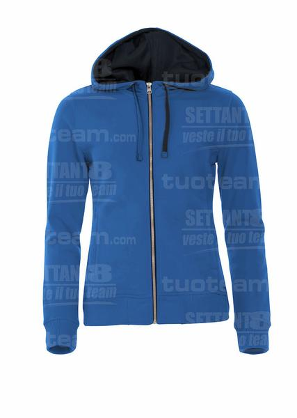 021045 - FELPA Classic Hoody Full Zip Ladies - 55 royal