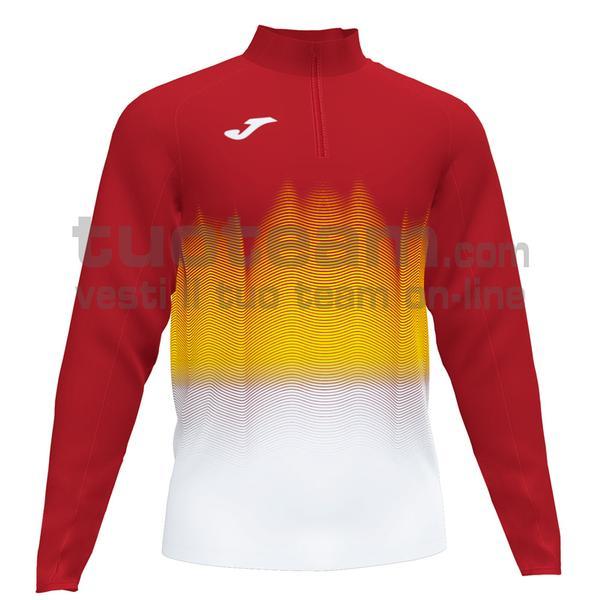 101541 - ELITE VII FELPA 90% polyester 10% fleece elastane - 602 ROSSO / BIANCO