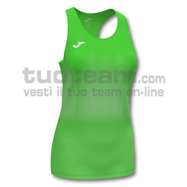 901036 - ELITE VII WOMAN CANOTTA 95% polyester 5% elastane - 020 VERDE FLUOR