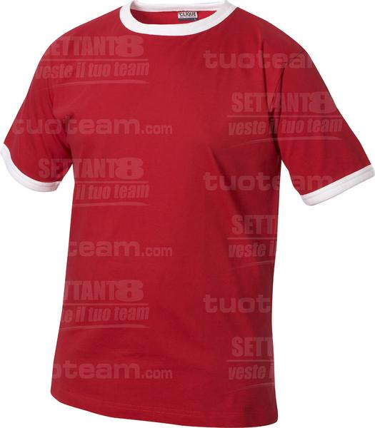 029304 - T-SHIRT Nome Kids - 3500 rosso/bianco