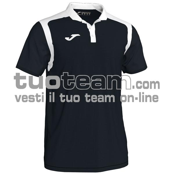 101265 - CHAMPIONSHIP V POLO 100% polyester interlock - 102 NERO/BIANCO