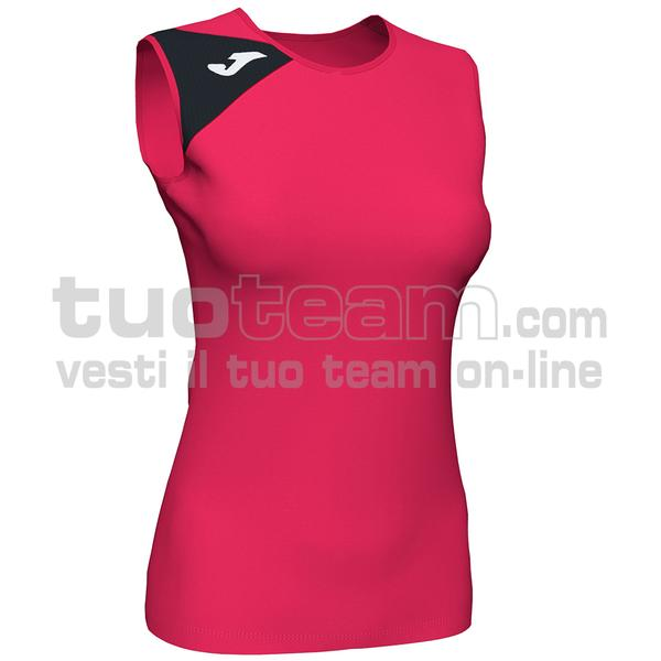 900870 - SPIKE II WOMAN SMANICATO 100% polyester interlock - 501 FUSCIA / NERO