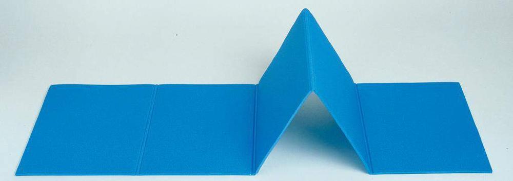 044 - MATERASSINO PIEGHEVOLE blu in polietilene espanso cm. 180 x 50 x 0,7