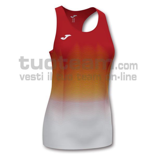 901036 - ELITE VII WOMAN CANOTTA 95% polyester 5% elastane - 602 ROSSO / BIANCO