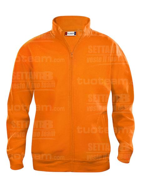 021028 - FELPA Basic Cardigan Junior - 170 arancio HV