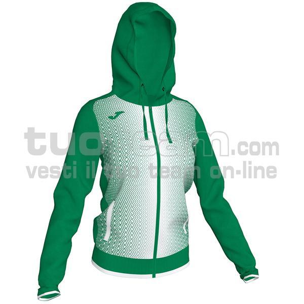 900891 - SUPERNOVA WOMAN FELPA FULL ZIP 100% polyester tricot - 452 VERDE / BIANCO