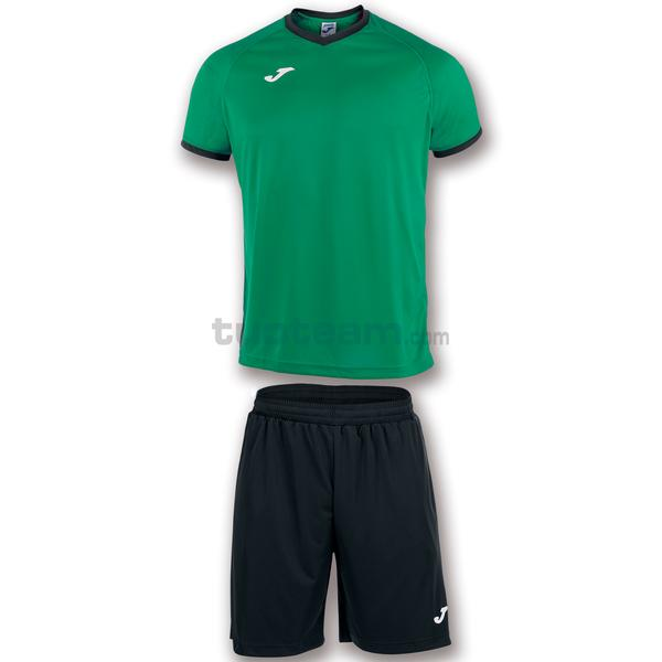 101097 - ACADEMY SET M/C MAGLIA+SHORT polyester light - 451 VERDE / NERO