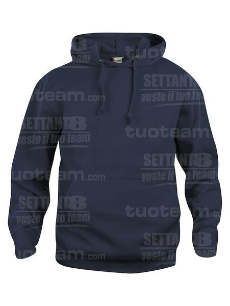 021031 - FELPA Basic Hoody - 580 blu