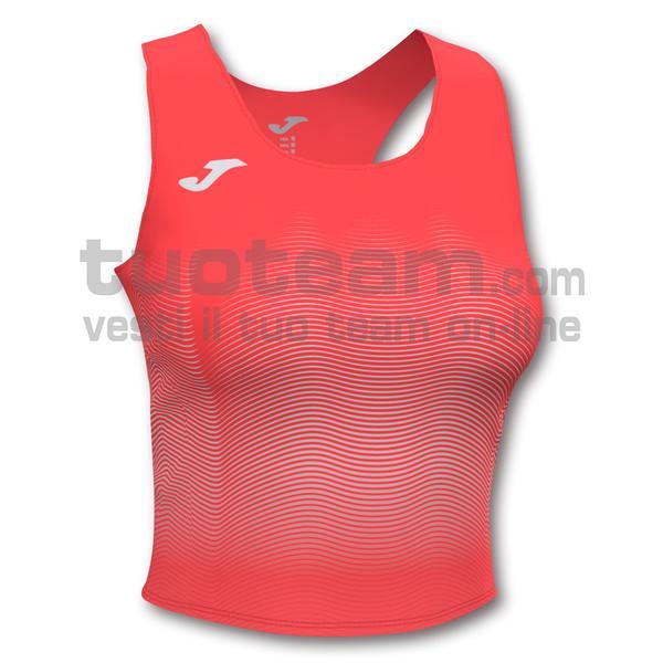 901018 - ELITE VII WOMAN TOP 90% polyester 10% elastane - 040 ARANCIONE FLUOR SCURO