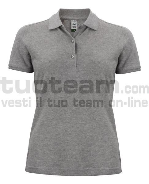 028265 - Organic Cotton Polo Lady - 95 grigio melange