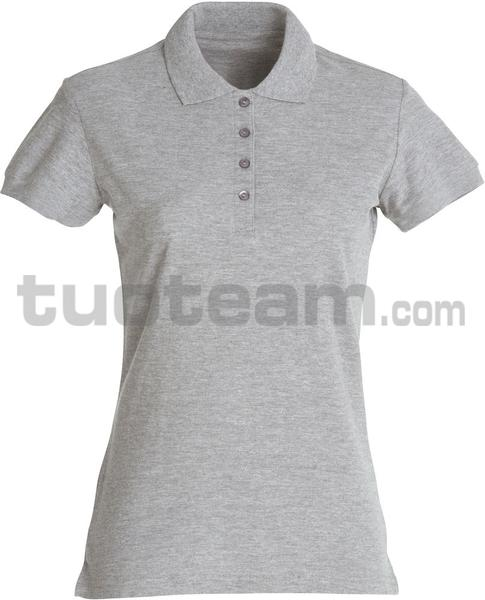 028231 - polo basic lady - 95 grigio melange