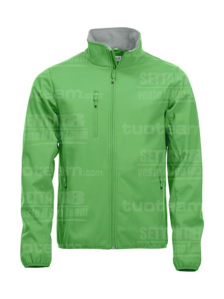 020910 - GIACCA Basic Softshell Jacket Men - 605 verde acido