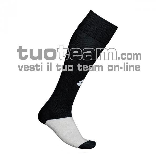 L53050 - LOGO SOCK TRNG LONG - nero / bianco