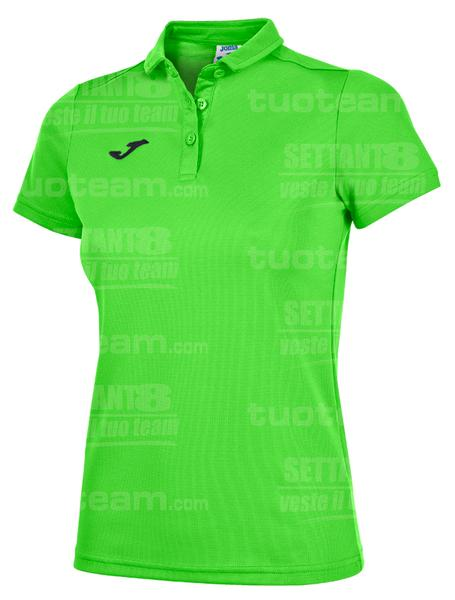 900247 - POLO HOBBY WOMAN - 020 VERDE FLUO/NERO