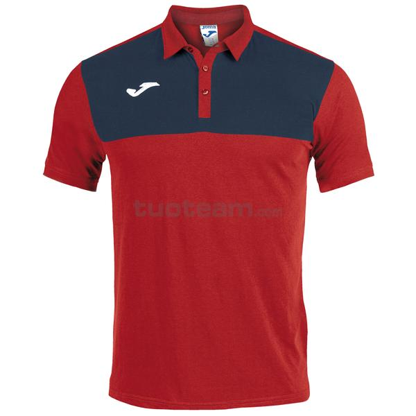 101108 - WINNER II POLO WINNER MC 65% polyester 35% cotton - 603 ROSSO / DARK NAVY