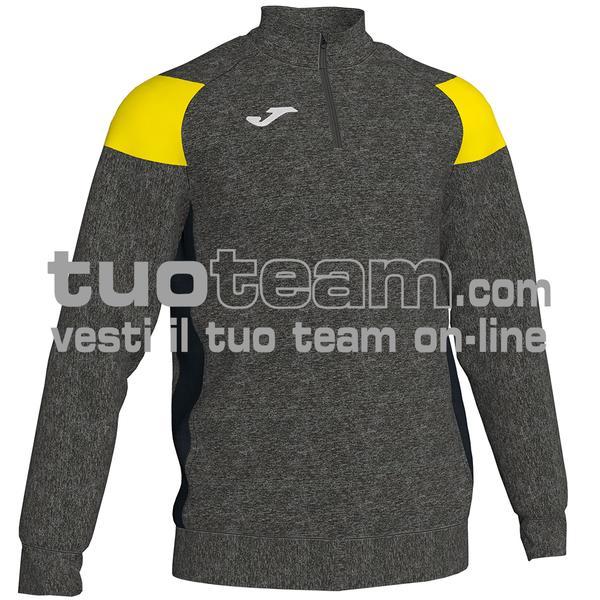 101272 - FELPA 1/2 ZIP 100% polyester fleece - 159 MELANGE / GIALLO FLUO