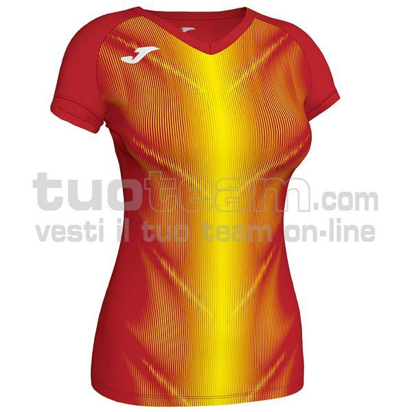 900933 - OLIMPIA WOMAN MAGLIA MC 95% polyester 5% elastane - 609 ROSSO / GIALLO