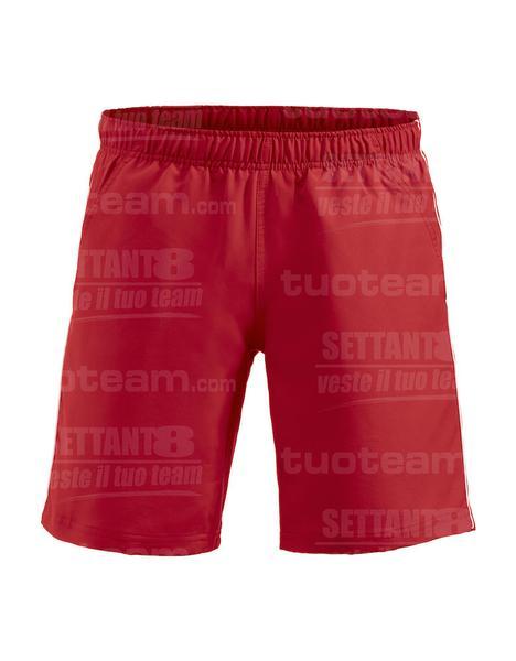 022057 - PANTALONCINO Hollis - 3500 rosso/bianco