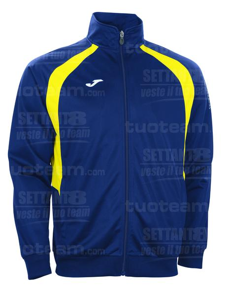 100017 - GIACCA TRICOT CHAMPION III - 309 BLU NAVY/GIALLO