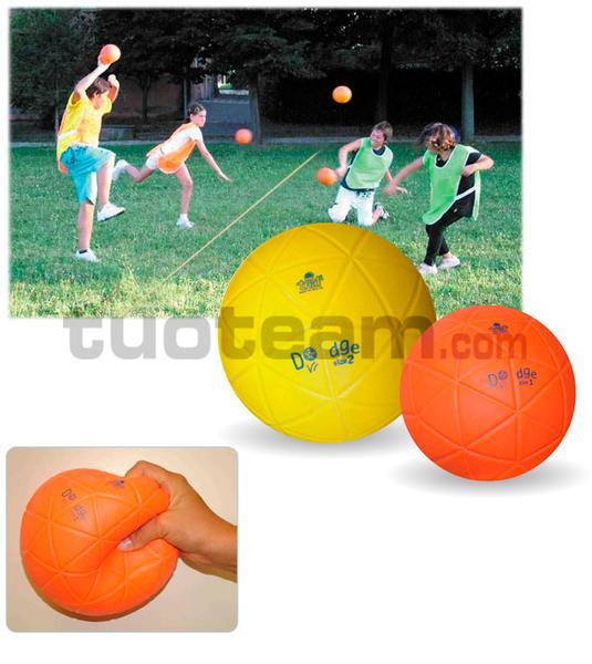 TDB16 - Palla per Dodgeball diametro cm. 16 peso grammi 210 colore arancio fluo