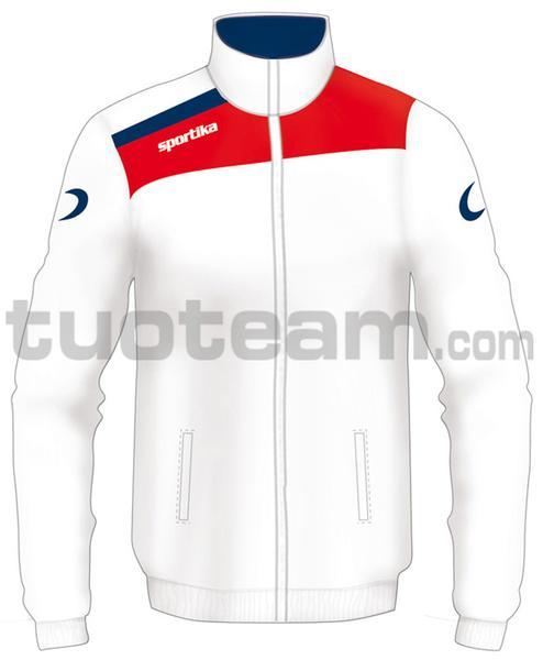 7245 - giacca NEST - BIANCO / ROSSO / BLU