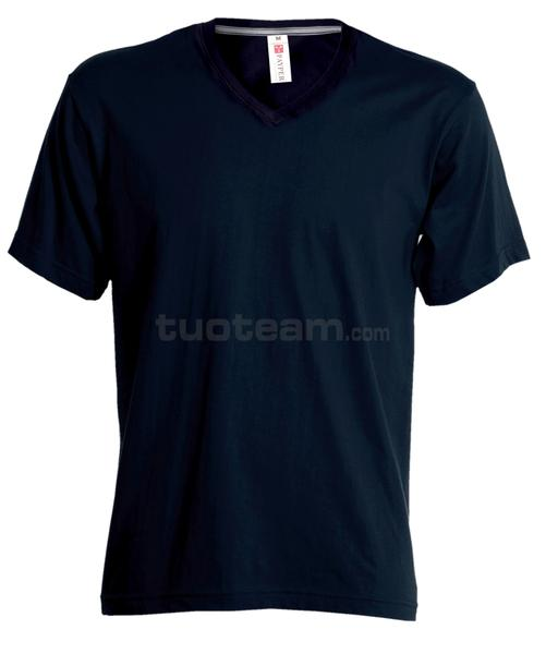 V-NECK - T-SHIRT V-NECK - BLU NAVY
