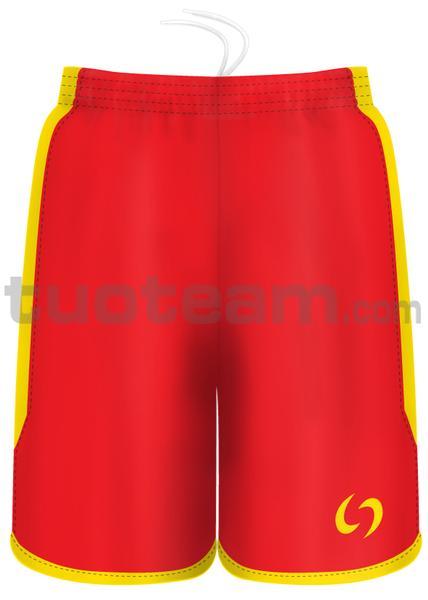7259 - pantaloncino KENIA - ROSSO / GIALLO