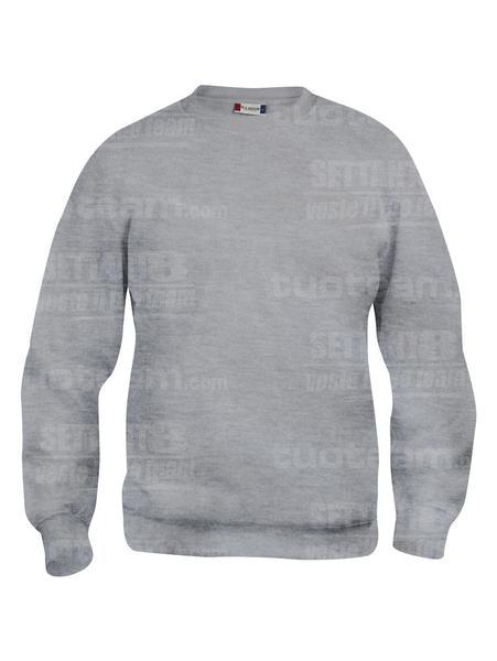 021030 - FELPA Basic Roundneck - 95 grigio melange