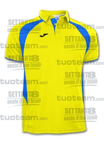 100018 - POLO M/C CHAMPION III - 907 GIALLO/BLU