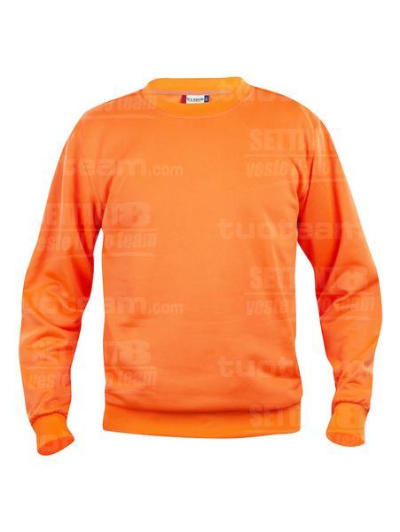 021030 - FELPA Basic Roundneck - 170 arancio HV