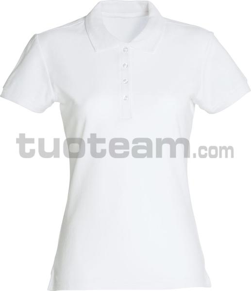 028231 - polo basic lady - 00 bianco
