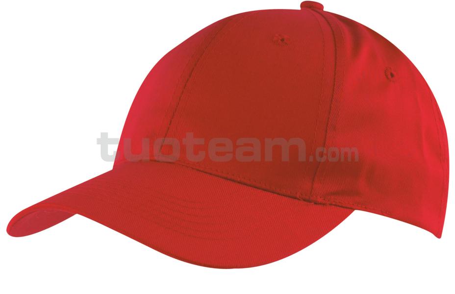 K18061 - CAPPELLINO 6 PANNELLI / 6 PANELS CAP - ROSSO